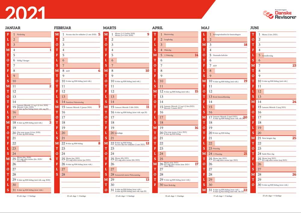 Revisor kalender 2021